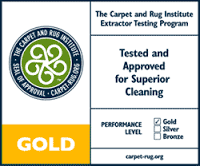 gold seal certified by carpet and rug institute